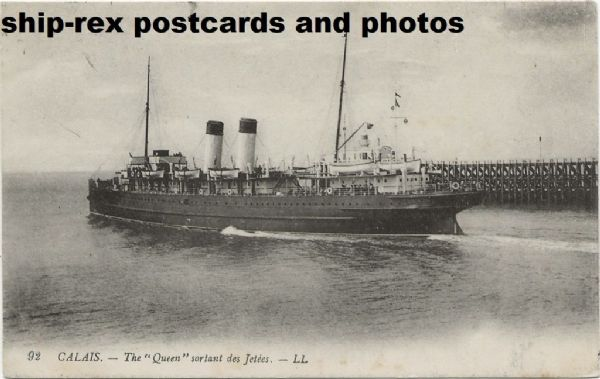 THE QUEEN (SE & Chatham Railway) postcard (c)